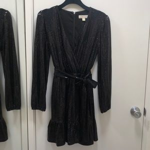 """Micheal Kors """"Sequined Ruffle Wray Dress"""""""